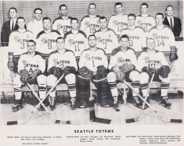 Seattle Totems 1961-62 Team Photo