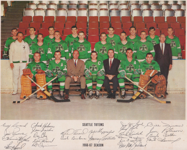 Seattle Totems 1966-67 Team Photo with Autographs