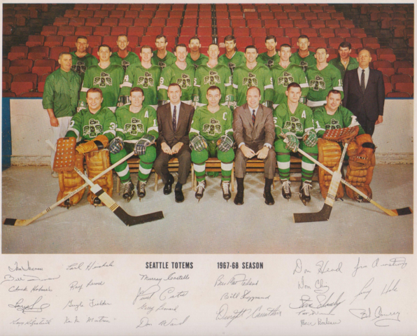 Seattle Totems 1967-68 Team Photo with Autographs