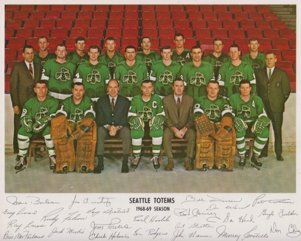 Seattle Totems 1968-69 Team Photo with Autographs