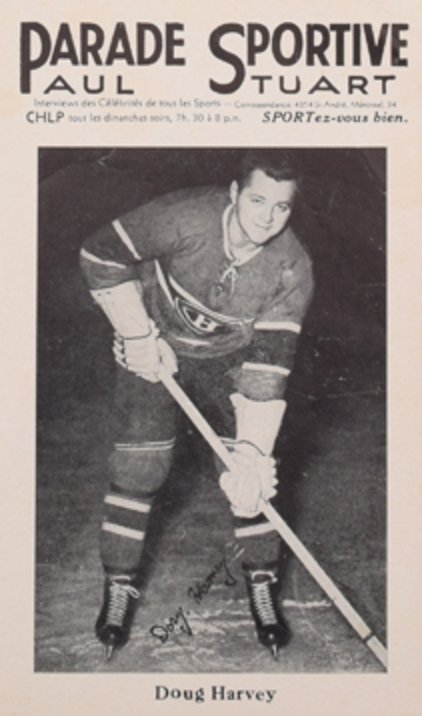 sports shoes db6d8 9b317 Parade Sportive Photo Card of Montreal Canadiens Doug Harvey ...
