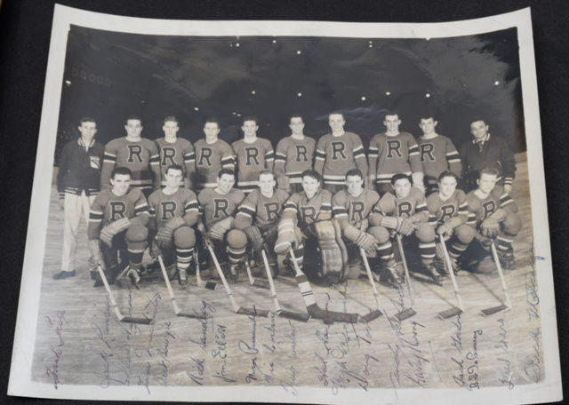 New York Rovers Autographed Team Photo 1947 Eastern Hockey League