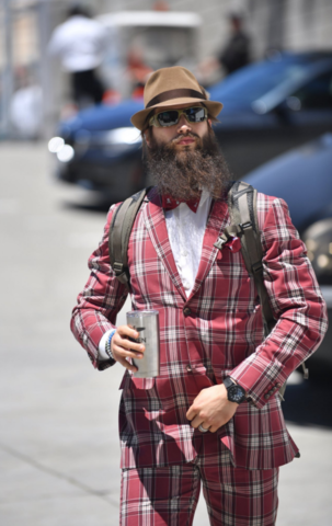 Brent Burns showing some Hockey Style for Stanley Cup game 6 in San Jose 2016
