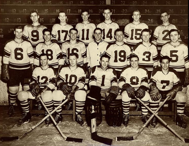 Saint John Beavers Hockey Team, Maritime Champions, New Brunswick 1952