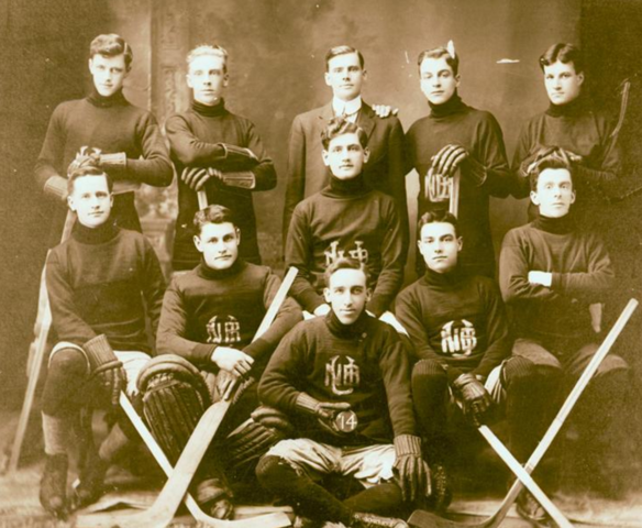 University of New Brunswick Hockey Team 1914, Fredericton, New Brunswick