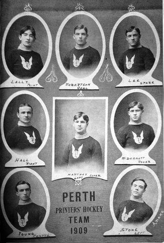 Perth Printers' Hockey Team 1909