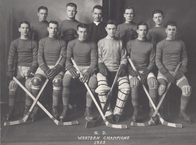 University of Notre Dame Men's Hockey Team - Western Champions 1922