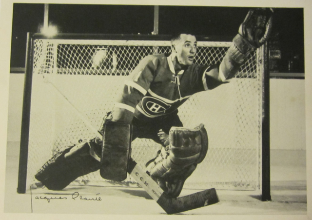 Jacques Plante York Peanut Butter Photo 1961 Montreal Canadiens