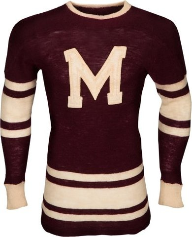 Montreal Maroons Jersey worn by Russ Blinco in the 1930s