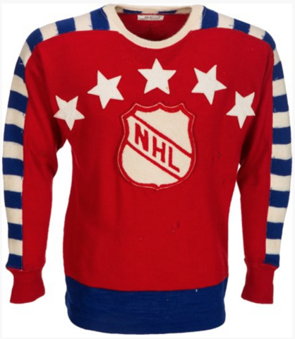 "1947 NHL Inaugural All-Star Game Jersey worn by Maurice ""Rocket"" Richard"