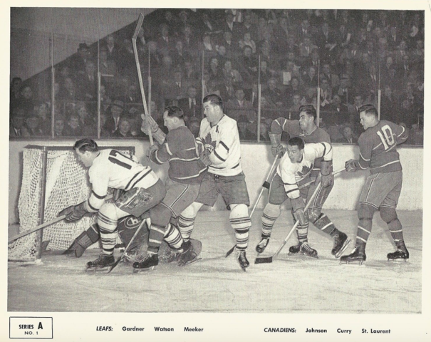 Quaker Oats Action Series A No. 1 Montreal Canadiens vs Toronto Maple Leafs 1951