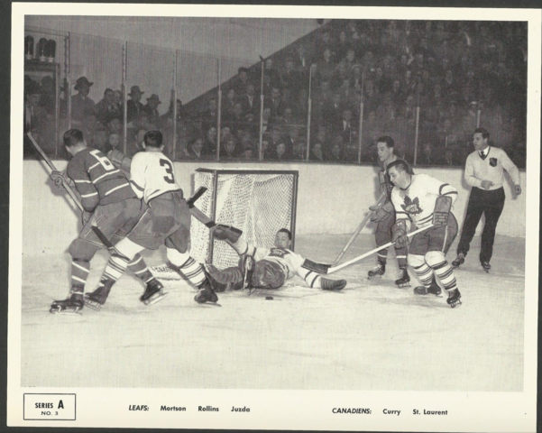 Quaker Oats Action Series A No. 3 Montreal Canadiens vs Toronto Maple Leafs 1951