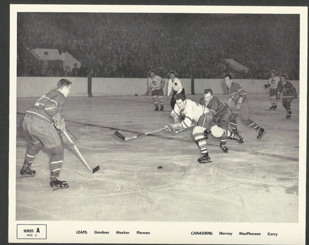 Quaker Oats Action Series A No. 2 Montreal Canadiens vs Toronto Maple Leafs 1951