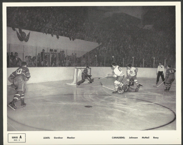 Quaker Oats Action Series A No. 4 Montreal Canadiens vs Toronto Maple Leafs 1951