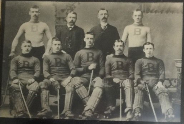 Boston Roller Polo Team at Tremont Temple - circa 1900