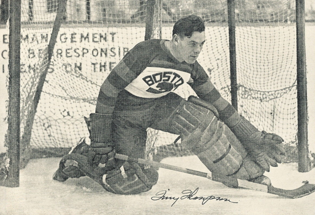 "Cecil ""Tiny"" Thompson Boston Bruins 1930"