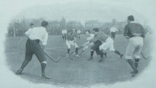 England vs Ireland Field Hockey Match at Richmond Park 1899