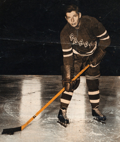 Pentti Lund New York Rangers 1950 - First Finnish Player to Score a NHL Goal