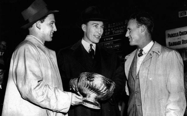 Bill Cowley, Dit Clapper and Jack Crawford with the Original Stanley Cup 1941