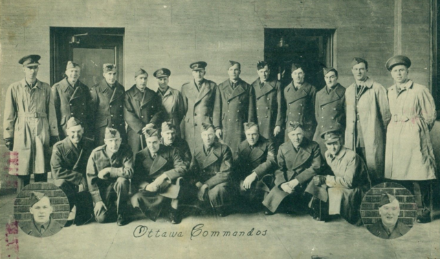 Ottawa Commandos Hockey Team in Uniforms 1942