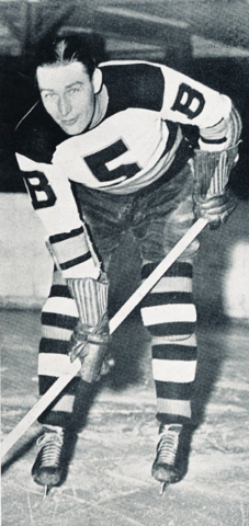 "Aubrey ""Dit"" Clapper Boston Bruins Captain 1941"
