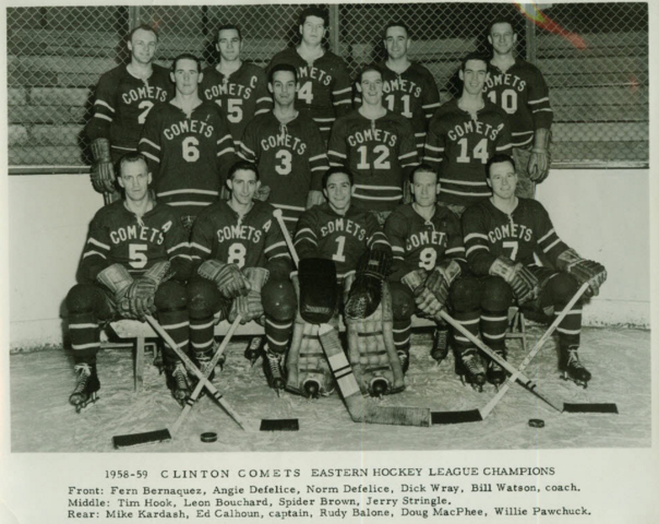 Clinton Comets Hockey Team 1958-59 Eastern Hockey League Champions