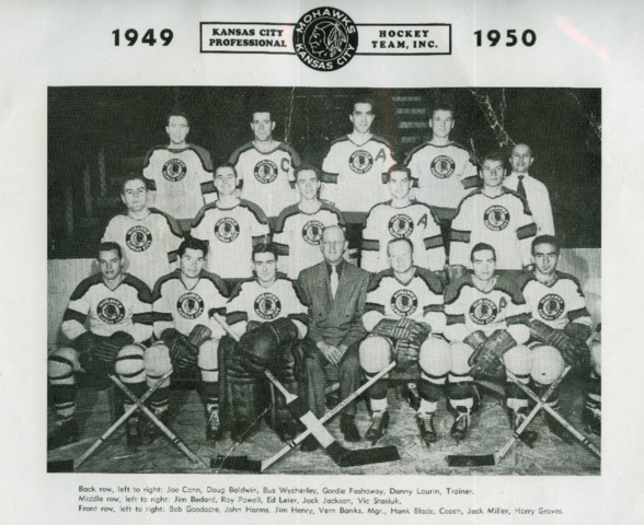 Kansas City Mohawks Hockey Team 1949-50 United States Hockey League / USHL