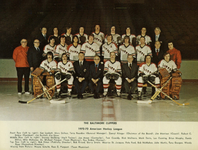 Baltimore Clippers 1973 American Hockey League