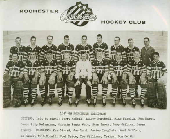 Rochester Americans 1958 American Hockey League