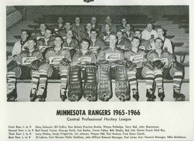 Minnesota Rangers 1965 Central Professional Hockey League
