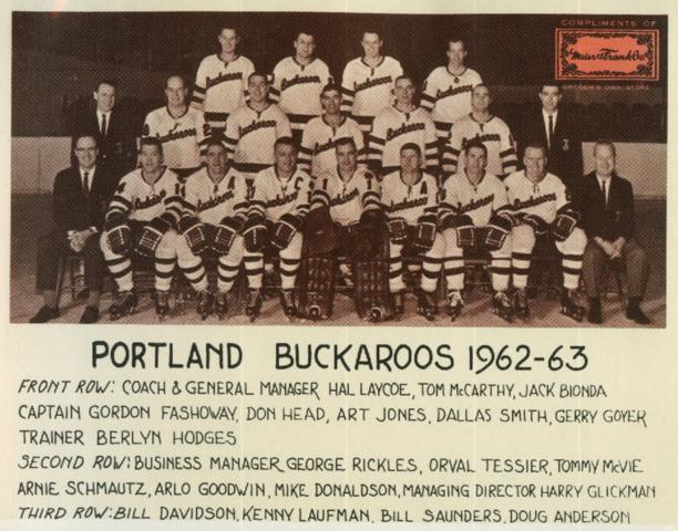 Portland Buckaroos 1962 Western Hockey League