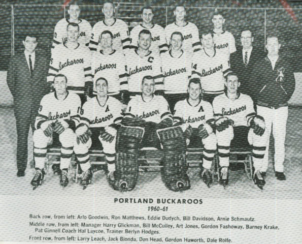 Portland Buckaroos 1960 Western Hockey League