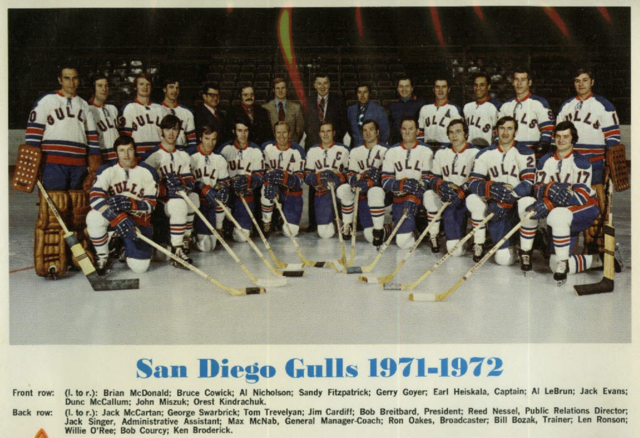 San Diego Gulls 1971 Western Hockey League