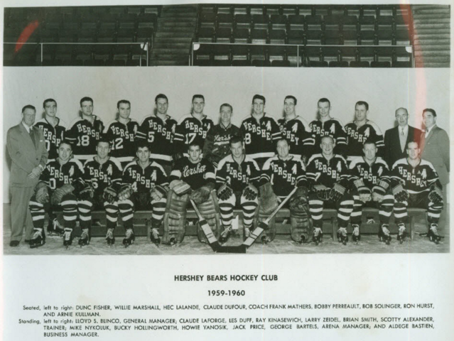 Hershey Bears 1959 American Hockey League