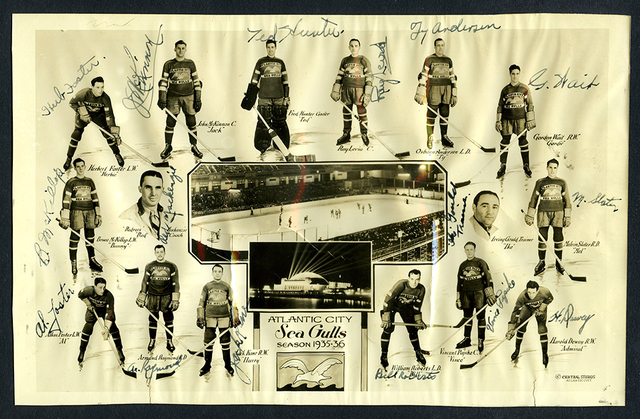 Atlantic City Sea Gulls Team Photo 1935-36 Eastern Amateur Hockey League / EAHL