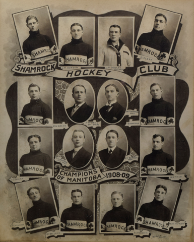 Winnipeg Shamrocks / Shamrock Hockey Club 1908-09 Champions of Manitoba