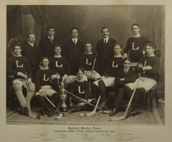 Lachute Hockey Team Champions of Lower Ottawa Hockey Association 1904