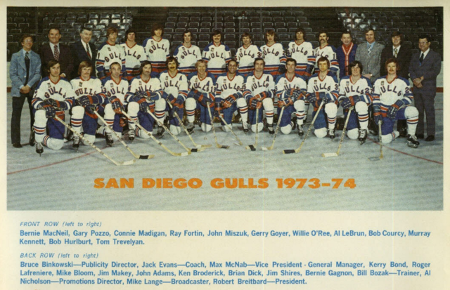 San Diego Gulls 1973  Western Hockey League