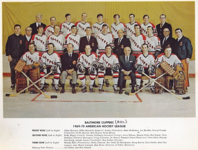 Baltimore Clippers 1969 American Hockey League