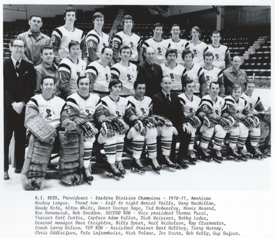 Rhode Island Reds / Providence Reds 1971 American Hockey League