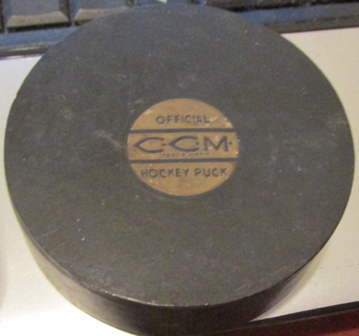 Antique CCM Hockey Puck 1940s