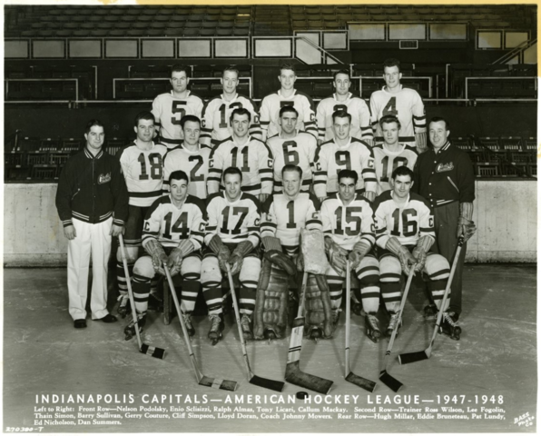 Indianapolis Capitols 1947-48 American Hockey League