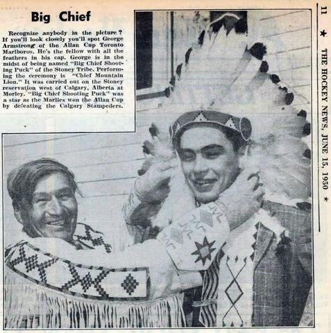"George Armstrong ""Big Chief Shoot-the-Puck"" 1950"