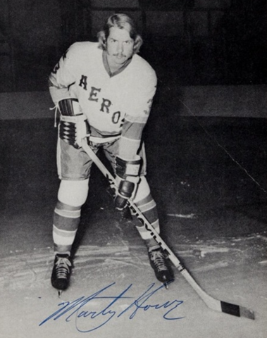 Marty Howe 1974 Houston Aeros World Hockey Association / WHA