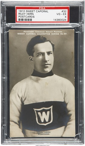 Riley Hern Hockey Card 1910 Sweet Caporal Postcard