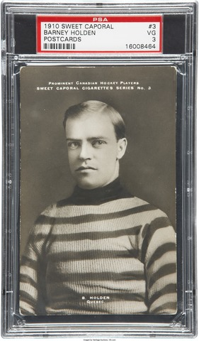 Barney Holden Hockey Card 1910 Sweet Caporal Postcards