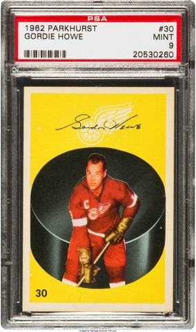 Gordie Howe Hockey Card 1962 Parkhurst