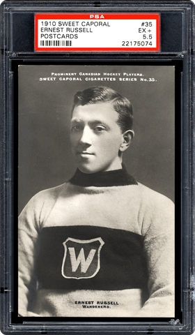 Ernest Russell Hockey Card 1910 Sweet Caporal Postcard