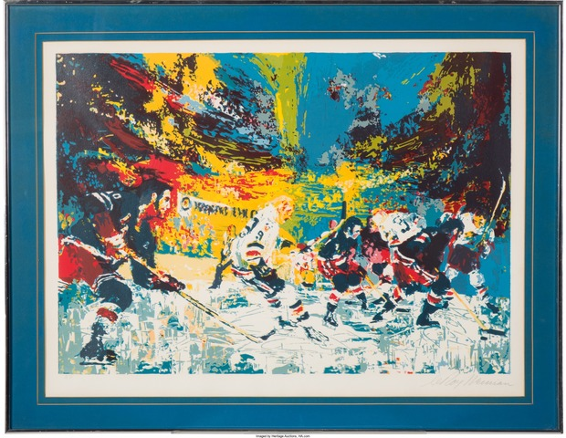"LeRoy Neiman Hockey Art 1974 ""Ice Men"""