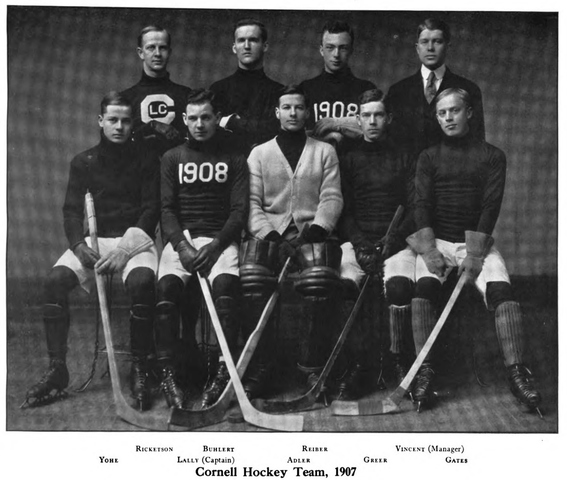 Cornell University Hockey Team, 1907-08